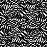Wektorowej modniś abstrakcjonistycznej geometrii trippy wzór z 3d złudzeniem Zdjęcia Stock