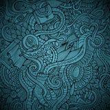 Wektorowej mody doodles dekoracyjny tło Zdjęcia Royalty Free