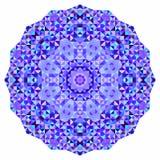 Wektorowej mozaiki round sztandar Obrazy Royalty Free
