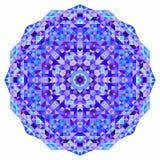 Wektorowej mozaiki round sztandar Zdjęcie Royalty Free