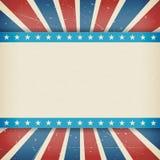Wektorowej niezależności 4th Lipa dnia amerykański plakat Zdjęcia Stock