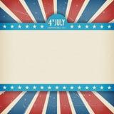 Wektorowej niezależności 4th Lipa dnia amerykański plakat Zdjęcia Royalty Free
