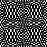 Wektorowej nowożytnej abstrakcjonistycznej geometrii psychadelic wzór czarny i biały bezszwowy geometryczny szalony tło Fotografia Stock