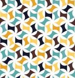 Wektorowej nowożytnej bezszwowej kolorowej geometrii kwiecisty wzór, koloru abstrakt Zdjęcie Royalty Free