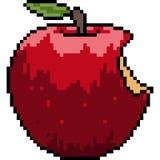 Wektorowej piksel sztuki jabłczany kąsek royalty ilustracja