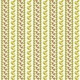 Wektorowej rośliny pionowo bezszwowy deseniowy tło Obraz Stock