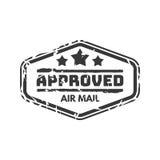 Wektorowej rocznik opłaty pocztowa poczta zatwierdzony znaczek Zdjęcia Stock