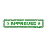 Wektorowej rocznik opłaty pocztowa poczta zatwierdzony znaczek Obrazy Stock