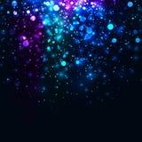 Wektorowej tęczy błyskotliwości rozjarzony lekki tło Galaktyki magia zaświeca tło ilustracja wektor