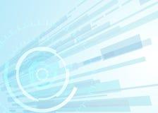 Wektorowej tło abstrakcjonistycznej technologii komunikacyjny pojęcie, futurystyczny tło, techno okrąg Obrazy Stock