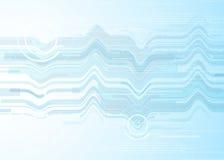 Wektorowej tło abstrakcjonistycznej technologii komunikacyjny pojęcie, futurystyczny tło, techno okrąg Fotografia Stock