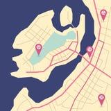 Wektorowej wyspy abstrakcjonistyczna mapa Obraz Royalty Free