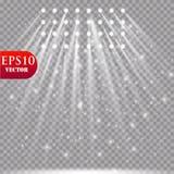 Wektorowi światła reflektorów scena skutków wielki światła przyjęcia występ Zdjęcia Stock