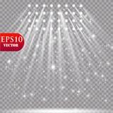 Wektorowi światła reflektorów scena skutków wielki światła przyjęcia występ Zdjęcie Stock