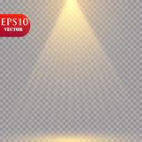 Wektorowi światła reflektorów scena skutków wielki światła przyjęcia występ Obraz Royalty Free