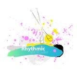 Wektorowi artystyczni Rytmiczni Gimnastyczni nakreślenie kluby Royalty Ilustracja