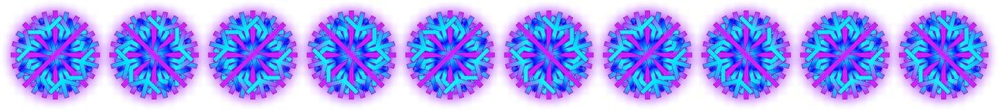 Wektorowi błękitni purpurowi boże narodzenia grają główna rolę z cieniem przy tylnym półprzezroczystym tłem, jako bar, sztandar,  ilustracja wektor