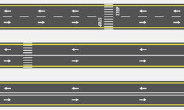 Wektorowi Bezszwowi asfaltowej drogi i autostrady typ od odgórnego widoku ilustracji