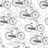 Wektorowi bezszwowi deseniowi bicykle royalty ilustracja