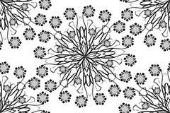 Wektorowi bezszwowi ornamentacyjni orientalni kwiatów mandalas Obraz Stock