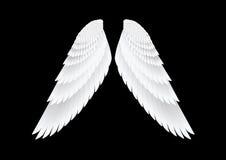 Wektorowi biel skrzydła Zdjęcia Royalty Free