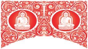 Wektorowi Buddha wzory Obrazy Stock