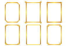 Wektorowi dekoracyjni projektów elementy: strona wystrój, fra Zdjęcia Stock