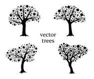 Wektorowi drzewa Zdjęcia Stock