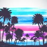 Wektorowi drzewka palmowe ilustracyjni Fotografia Royalty Free