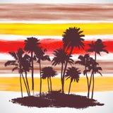 Wektorowi drzewka palmowe ilustracyjni Zdjęcie Royalty Free