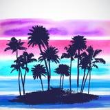 Wektorowi drzewka palmowe ilustracyjni Obraz Royalty Free