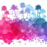 Wektorowi drzewka palmowe ilustracyjni Zdjęcie Stock