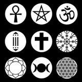 Wektorowi Duchowi symbole Ustawiający Obrazy Royalty Free