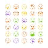 Wektorowi elementy dla emoci, internet sieci ikony Zdjęcia Stock
