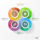 Wektorowi elementy dla infographic Zdjęcia Royalty Free