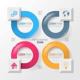 Wektorowi elementy dla infographic Fotografia Stock