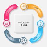 Wektorowi elementy dla infographic Obraz Stock