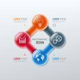 Wektorowi elementy dla infographic Zdjęcie Stock