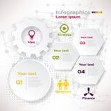 Wektorowi elementy dla infographic Szablon dla biznesowego pojęcia Obrazy Stock