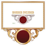 Wektorowi elementy dla projekta dyplom, reklamy i inny, karty Zdjęcie Stock