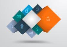 Wektorowi elementy infographics abstrakcjonistyczni kształty mo Zdjęcie Royalty Free