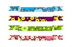 Wektorowi faborki z kolorowym tłem kwiaty Zdjęcie Stock