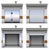 Wektorowi garaże ilustracji