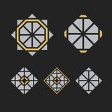 Wektorowi geometryczni symbole Zdjęcie Royalty Free