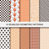 Wektorowi geometryczni wzory - bezszwowi royalty ilustracja