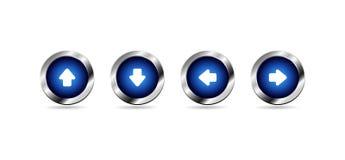 Wektorowi glansowani błękitni sieć guziki Royalty Ilustracja