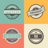 Wektorowi handlowi znaczki ustawiający w roczniku projektują dla Obrazy Stock