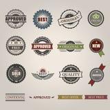 Wektorowi handlowi znaczki ustawiający w roczniku projektują dla Obrazy Royalty Free