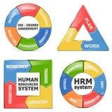 Wektorowi HRM diagramy ilustracja wektor