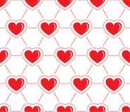 Wektorowi ilustracyjni czerwoni serca na białym tle royalty ilustracja